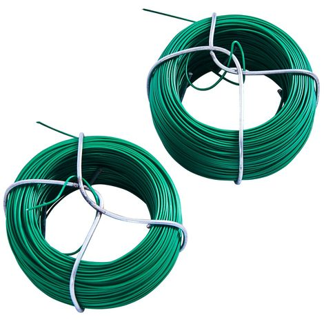 2pc 50M 0.8mm Plastic Coated Garden Wire Set