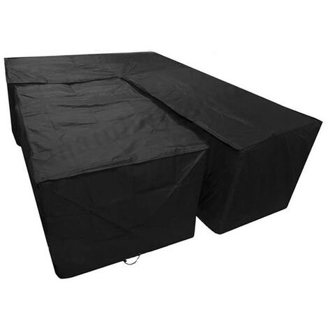 2PC Garden Furniture Cover Large Outdoor Sectional Furniture Set Cover, Table Sofa Covers, Anti-UV