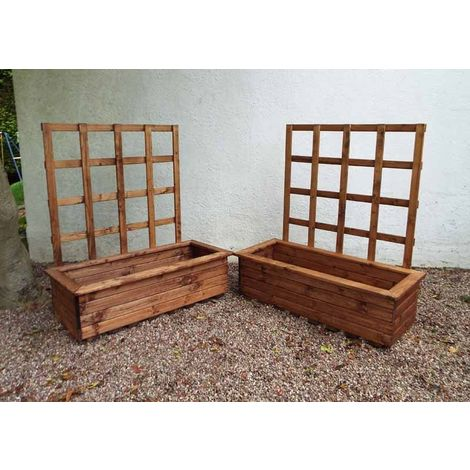 2pc Large Kensington (Trellis) Trough Set - Fully Assembled