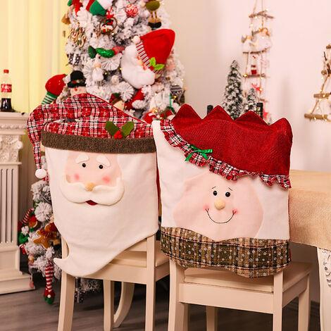 "main image of ""2Pc Santa Claus Kitchen Table Chair Cover Christmas Chair Cover Holiday Home Party Decoration fundas para sillas de comedor Xmas"""
