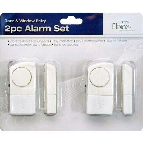 "main image of ""2PC WINDOW DOOR ENTRY ALARM SET HOME SHED SECURITY WIRELESS THEFT BURGLAR NEW"""