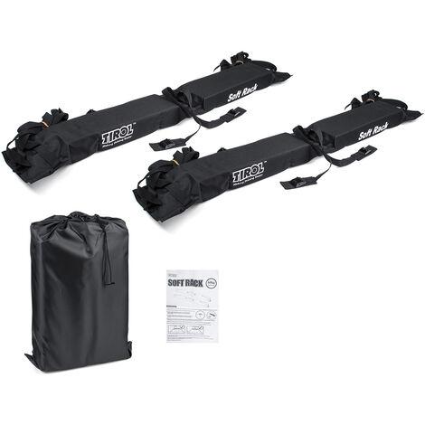 2PCS 125CM 600D Universal Car Soft Roof Rack Pad Bars Kayak Surfboard Luggage Carrier Load 60kg