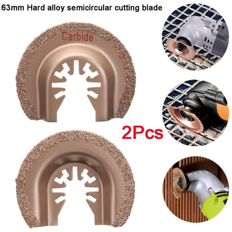 2Pcs 63Mm Mix Oscillating Saw Blades For Multi Multi Tool Wood Cutting Tool