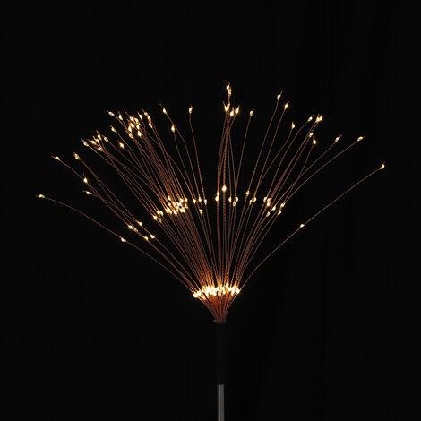 2Pcs 90LED Garden Path Lights Solar Power Firework Lamp Outdoor