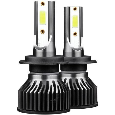 2Pcs Ampoule De Phare Led De Voiture Etanche Ip68, Kit De Conversion Integre De Lumiere De Conduite Led, Support De Lampe H7, 50W