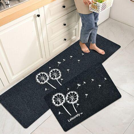 2Pcs Anti-Slip Kitchen Mat Absorbent Bath Mat Mat for Front Sink Bedroom Living Room Bathroom Dustproof Indoor Door Mat