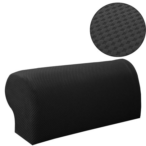 2Pcs Armrest Cover Thicken Stretchy Knitting Sofa Armchair Arm Protector E Hasaki
