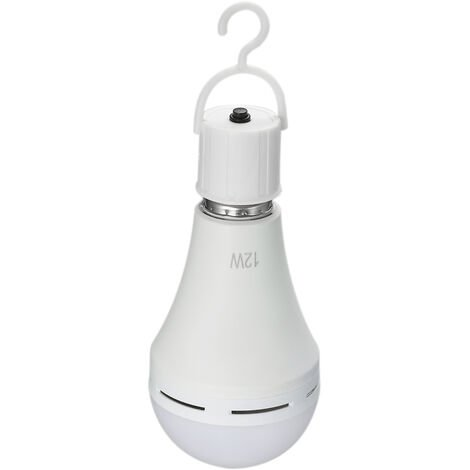 2PCS Bombillas LED de emergencia recargables de 6W, E26 / E27, AC100 ~ 240V
