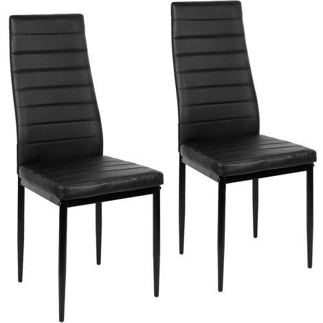 2pcs chaises mis à manger chaise cuisine cuisine chaise chaise de bar noir