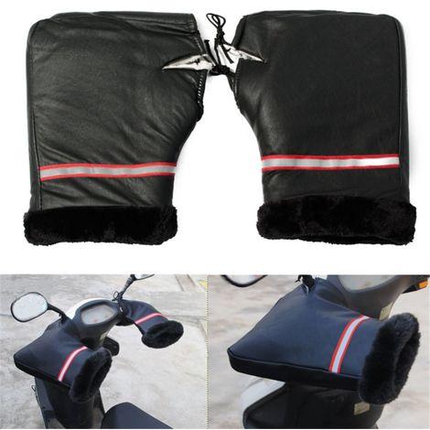 2Pcs Couverture Gants Manchon Réchauffeur Hiver Poignée étanche Moto Vélo