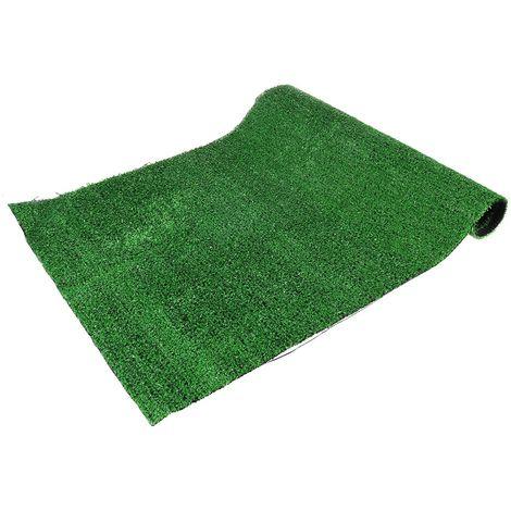 2pcs Gazon Artificiel Rouleau Reste Offcut Tapis Réaliste Vert Jardin 0.5x1m 1cm épaisseur Sasicare