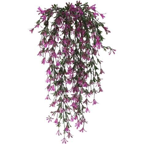 2pcs Hanging Artificial Plant Artificial Flowers Plants Garland Vine for Indoor Outdoor Hanging Planter Home Garden Balcony Office Balcony Fence Trellis