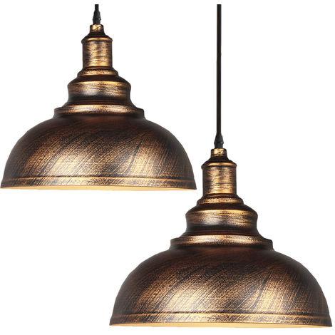 2pcs Lampara Colgante Forma de Semicírculo Diseño Simple Creativo Moderno Metal Luz Hemisferio Ø29cm Para Cocina Comedor Dormitorio Cafe Interior (Blanco)exterior bronce
