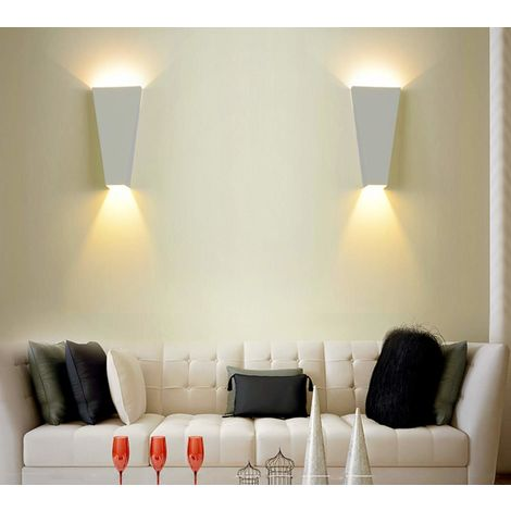 2pcs Lámpara de pared LED de Hierro Moderno Minimalista Aplique (Blanco)Forma Cuboide Irregular Creativo Ajustable Diseno 10w para Cocina Restaurante pasillo Entrada
