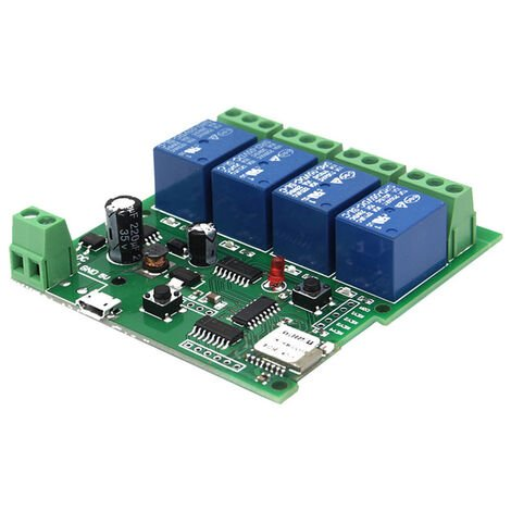 2PCS, Modulo universal de interruptor de control remoto inteligente, 4 canales DC 5V 12V 32V
