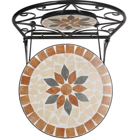 2PCS Mosaic Patio Folding Chair Furniture 35*36*91cm Orange