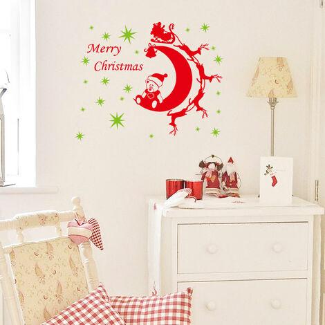 2Pcs Ours De Noel Stickers Muraux Amovibles Art Stickers Mural Diy Papier Peint Chambre Decal 64 * 81Cm