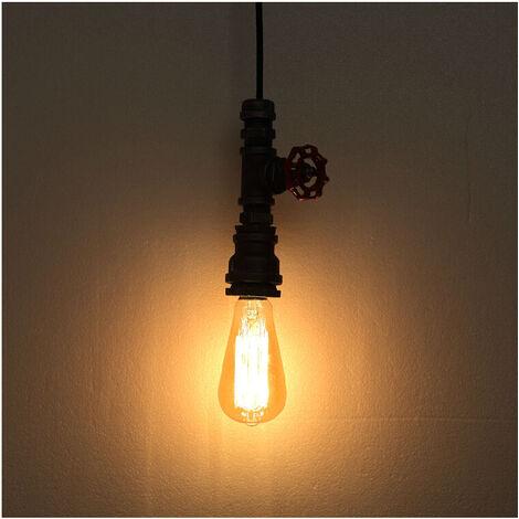 2pcs Retro Industrial Pendant Light Creative Steampunk Hanging Light Metal Pendant Lamp Vintage Ceiling Light Rust