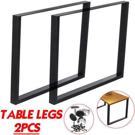 2PCS/Set Industrial Iron Furniture Dinning Table/Desk/Bench Legs Metal Box Frame 71*65cm