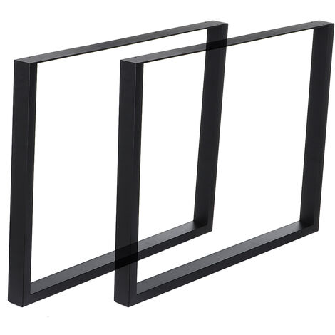 2PCS/Set Industrial Iron Furniture Table Bench Legs Metal Box Frame 71*90cm Black