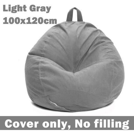 """main image of """"2pcs Sloth Beanbag Sofas Cover + Inner Liner without Infill Velvet Fabric 100x120cm"""""""