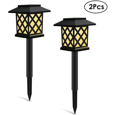 "main image of ""2Pcs Solar Lights Outdoor Landscape Lighting Lawn Lamp Solar Powered Light for Pathway Garden Patio Yard Decoration,model: Style 1 & 2Pcs"""