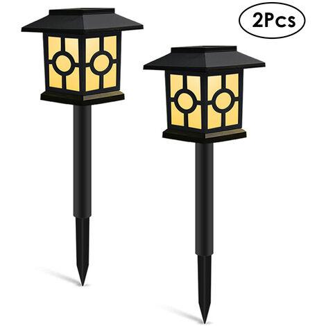 "main image of ""2Pcs Solar Lights Outdoor Landscape Lighting Lawn Lamp Solar Powered Light for Pathway Garden Patio Yard Decoration,model: Style 2 & 2Pcs"""