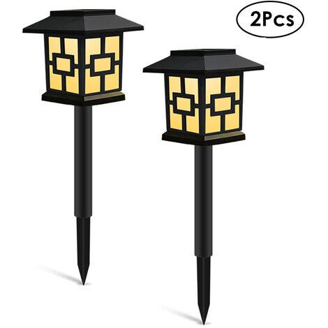 "main image of ""2Pcs Solar Lights Outdoor Landscape Lighting Lawn Lamp Solar Powered Light for Pathway Garden Patio Yard Decoration,model: Style 3 & 2Pcs"""