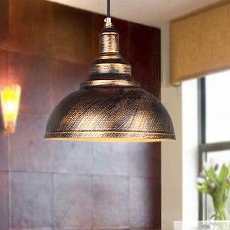 (2Pcs)Lampada a Sospensione Vintage Luce Sospesa in Metallo Lampadario Classico Moderno Luce Pendente Industriale in Ferro Ruggine