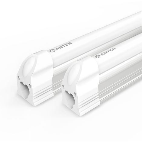 2pz 12W T5 Tubo LED Fluorescente Lámpara, 90cm 1400Lm LED Tubo de Luz, Blanco Frío(6000-6500K)