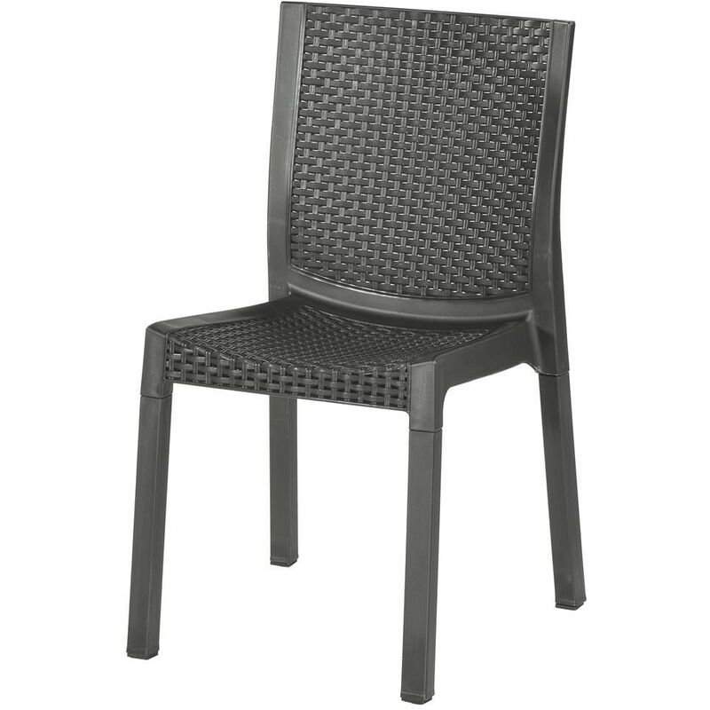 2pz sedia polipropilene rattan panarea antracite - Capaldo