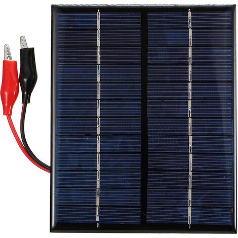 2W 12V Polycrystalline Silicon Solar Epoxy Panel Solar Panel + Tiger Clip