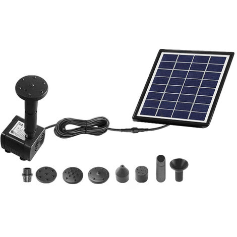 """main image of """"2W/4W/6W (Optional) Solar Powered Fountain Small Garden Floatings Fountain Pool Outdoor Parks Landscape Fish Pond Fountain with Nozzles"""""""