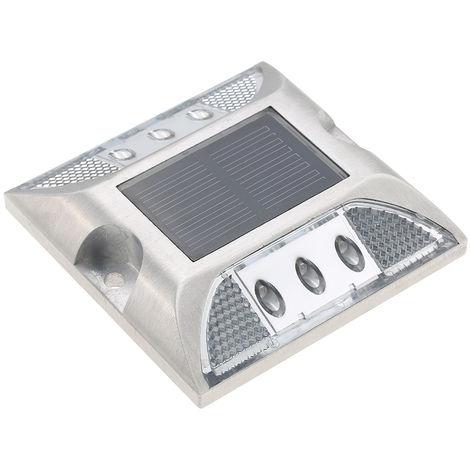 2W 6 LED Solar Powered Driveway Lamp Light Control Good Bearing Capacity IP68 Waterproof Road Warning Lamp