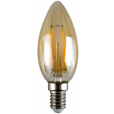 2W LED Filament SES E14 Amber Candle Light Bulb