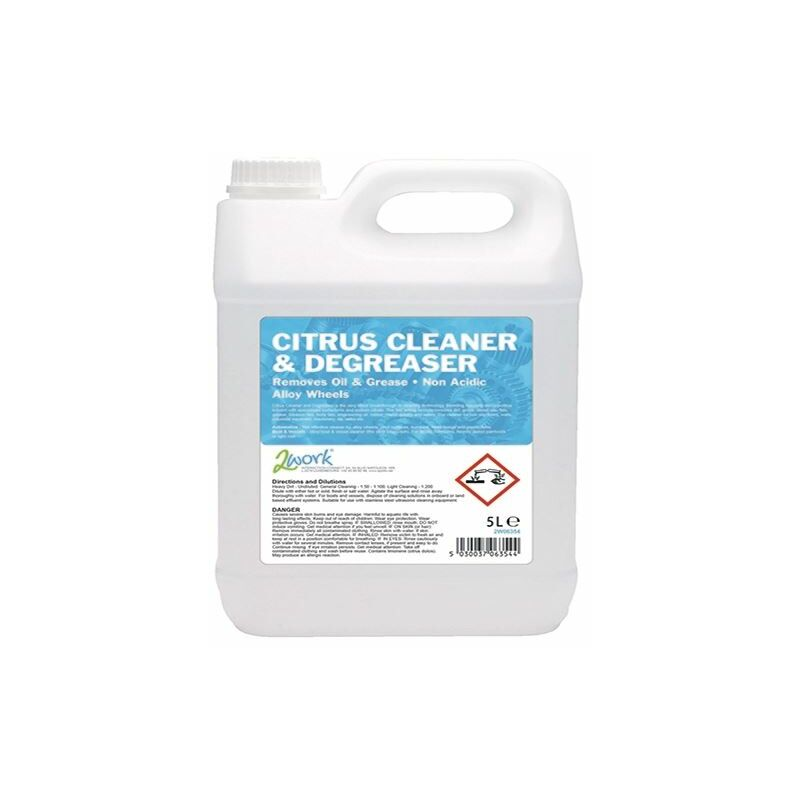 2Work Citrus Cleaner and Degreaser 5Ltr - 2W06354