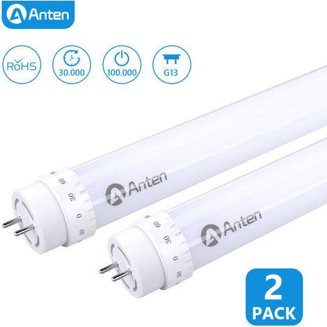 2X 120cm 20W T8 LED Tubo Fluorescente, Tubo LED 4ft con El Enchufe G13 Blanco Natural 2000LM Reemplaza 40W Tubo Tradicional