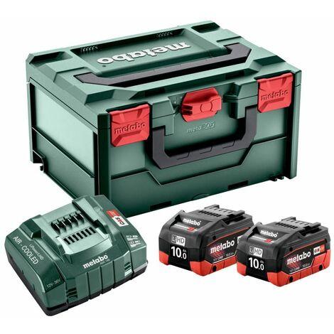 2x 18V Ersatzakkus 10 Ah + Ladegerät Basis-Set inmetaBox