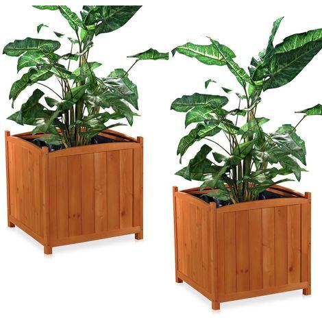 2x 50cm jardin de madera NUEVO