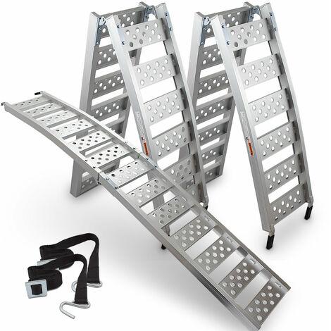 2x ALU-Auffahrrampe klappbar 229cm Verladeschiene Quadrampe 320kg