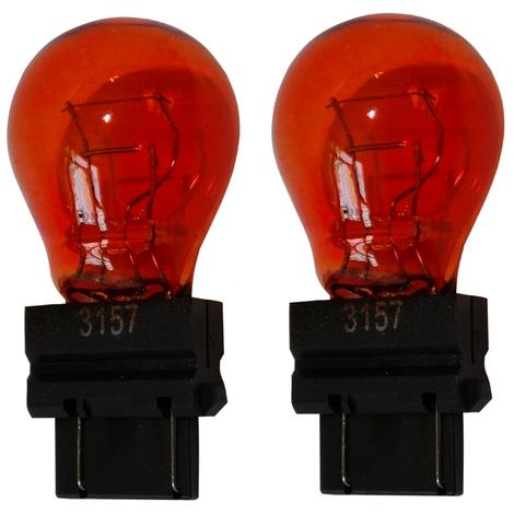 2x Ampoule 12V 3157 W2.5x16Q P27/7W Orange Ambré