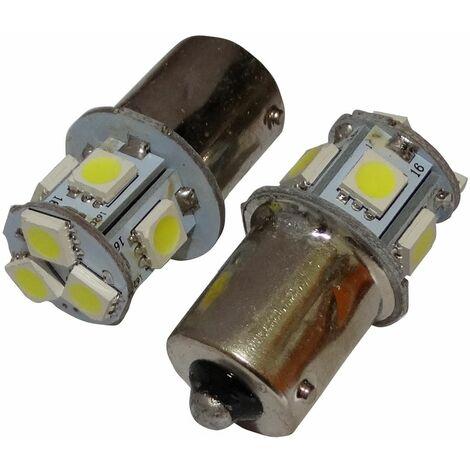 2x ampoule 24V P21W R10W R5W 8LED SMD blanc pour semi-remorque porte de garage portail