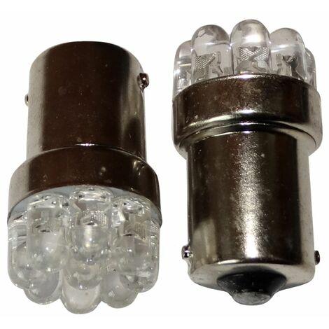 2x ampoule 24V P21W R10W R5W 9LED blanc pour semi-remorque porte de garage portail