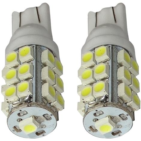10x ampoule T10 W5W 12V 10LED SMD blanc effet x/énon veilleuses /éclairage int/érieur seuils de porte plafonnier pieds lecteur de carte coffre compartiment moteur plaque dimmatriculation Aerzetix