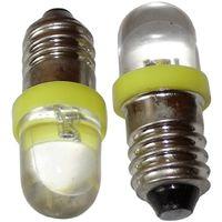 2x ampoules E10 LED 12V lumière jaune