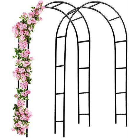 """main image of """"2x Arcades de rosiers 240x140x37cm Arceau Allée Entrée Jardin Pergola Roses et Plantes grimpantes"""""""