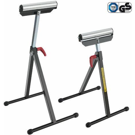 2x Arebos soporte de rodillo Set caballete para sujetar ajustable 90 kg