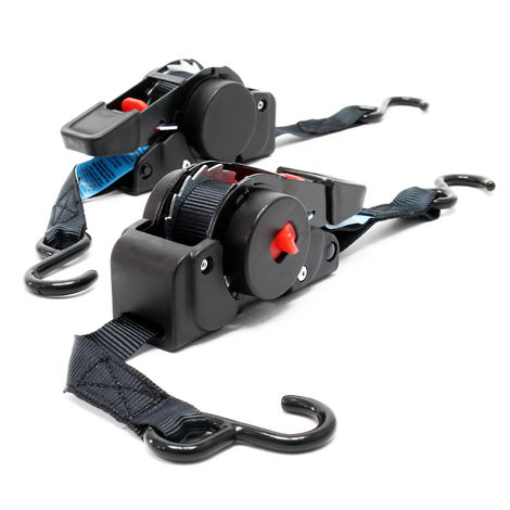 2x Automatic lashing strap 100 daN Tensile load LGF 0.2 m LGL 1.8 m PES