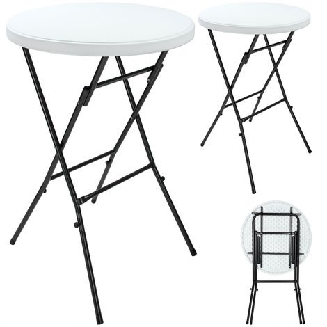 2x Bar Table High Bistro Table 31.5 Inches Foldable Garden Party Table Indoors