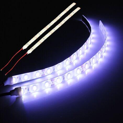 2x blanco 15 LED 5630 SMD flexible 12V luces de tira de la lámpara para Mohoo barco del coche a prueba de agua